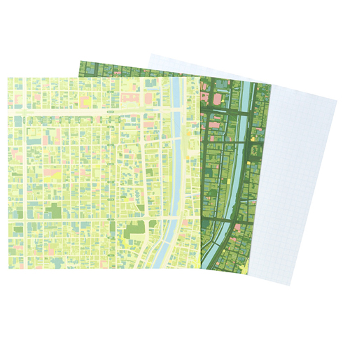 MAP WRAP NOTEPAD/京都