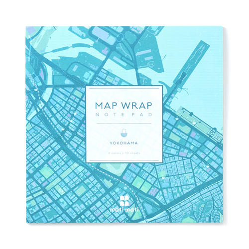 MAP WRAP NOTEPAD/横浜