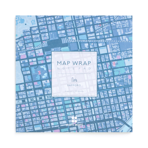 MAP WRAP NOTEPAD/札幌