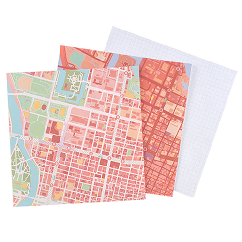 MAP WRAP NOTEPAD/広島