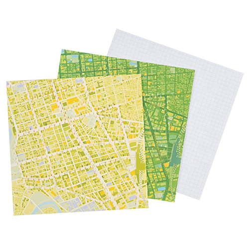 MAP WRAP NOTEPAD/仙台